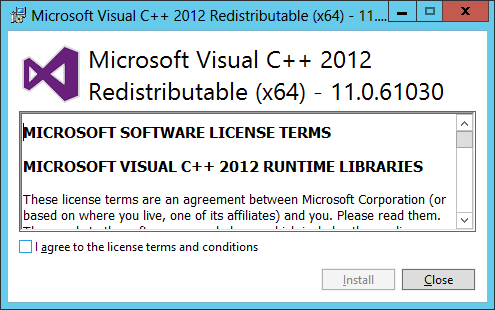 Microsoft Visual C++ 2012 Redistributable (x64)