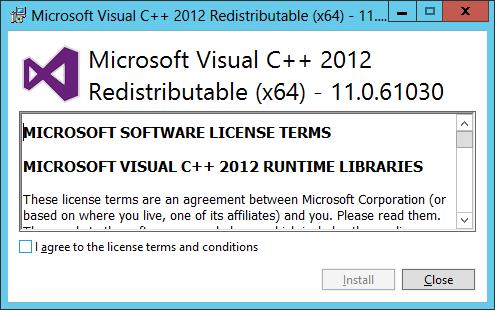 Microsoft Visual C++ 2012 Redistributable (x64)