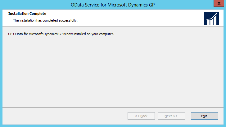 OData Service for Microsoft Dynamics GP: Installation Complete