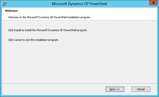 Microsoft Dynamics GP PowerShell: