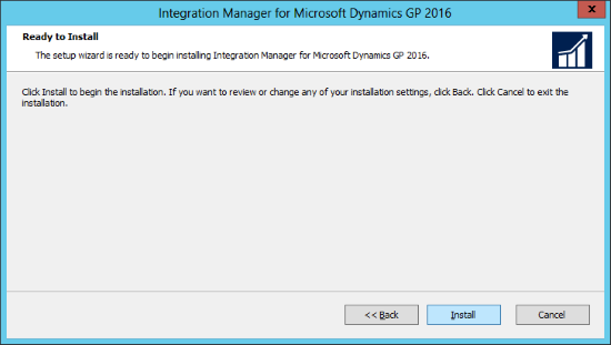 Integration Manager for Microsoft Dynamics GP 2016: Ready to Install