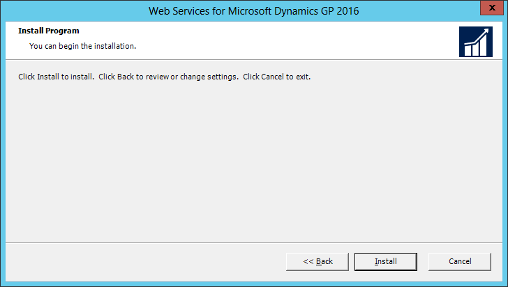 Web Services for Microsoft Dynamics GP 2016: Install Program