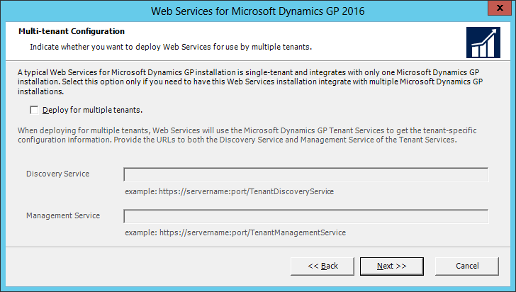 Web Services for Microsoft Dynamics GP 2016: Multi-tenant Configuration