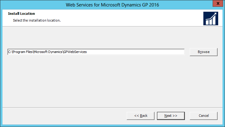Web Services for Microsoft Dynamics GP 2016: Install Location
