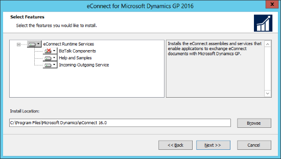 eConnect for Microsoft Dynamics GP 2016: Select Features