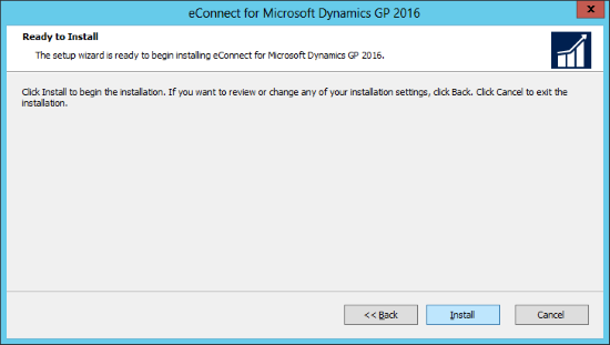 eConnect for Microsoft Dynamics GP 2016: Ready to Install