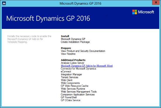 Microsoft Dynamics GP 2016