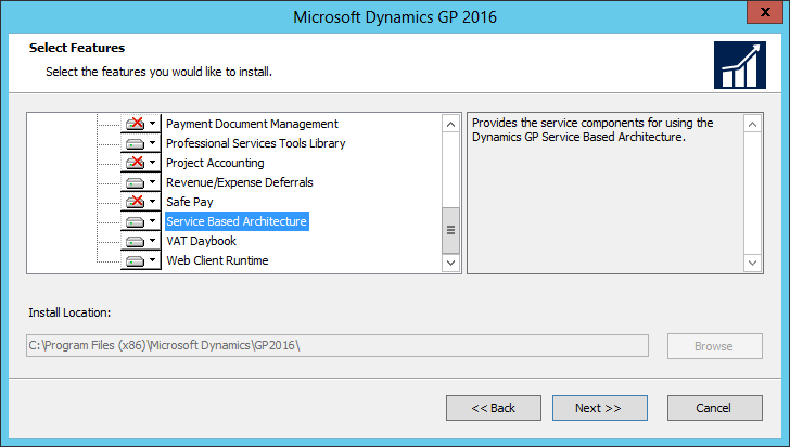Microsoft Dynamics GP 2016: Select Features