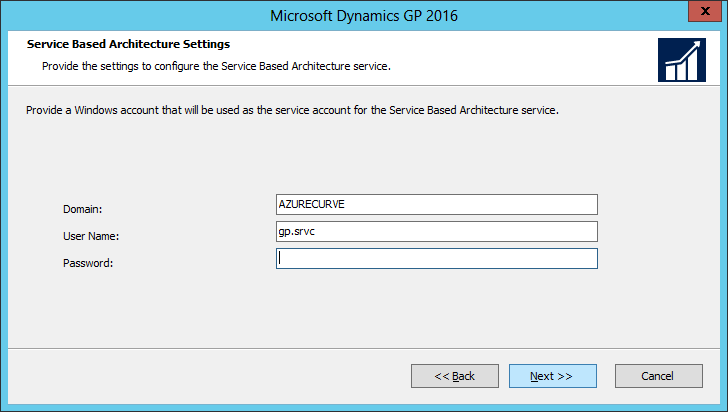 Microsoft Dynamics GP 2016: Service Based Architecture Settings