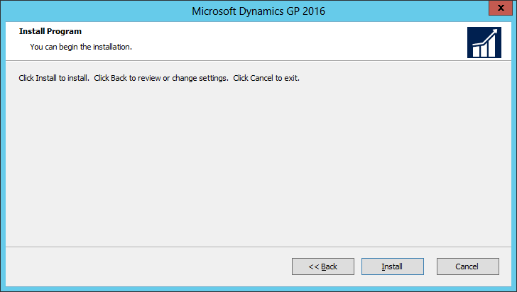 Microsoft Dynamics GP 2016: Install Program
