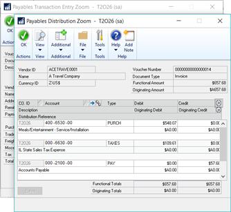 Payables Distribution Zoom