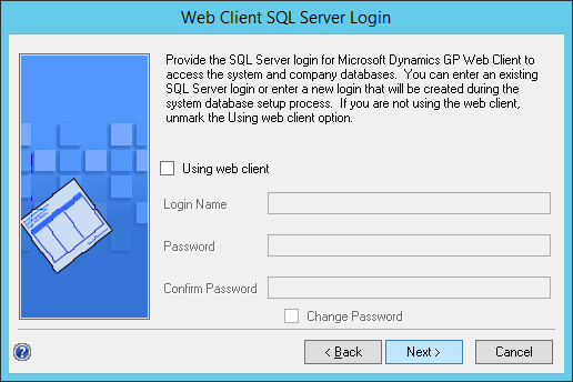 Web Client SQL Server Login