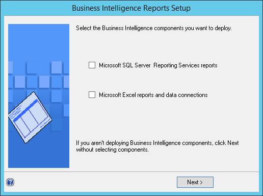 Business Intelligence Report Setup
