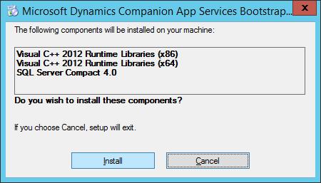 Microsoft Dynamics Companion App Services Bootstrapper