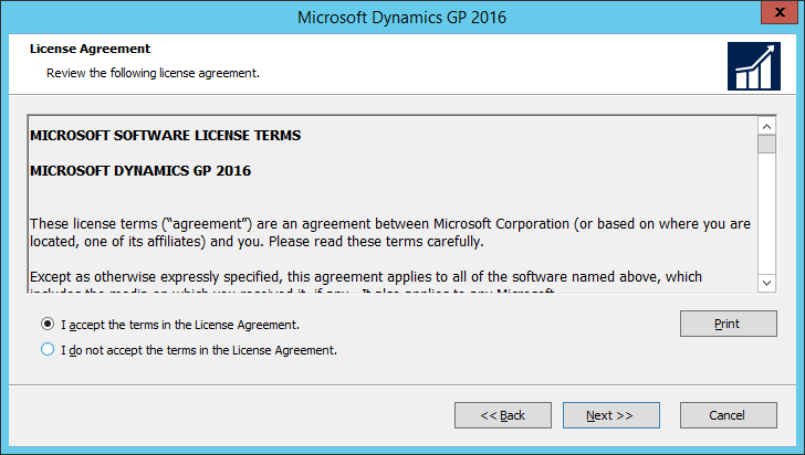 Microsoft Dynamics GP 2016: License Agreement