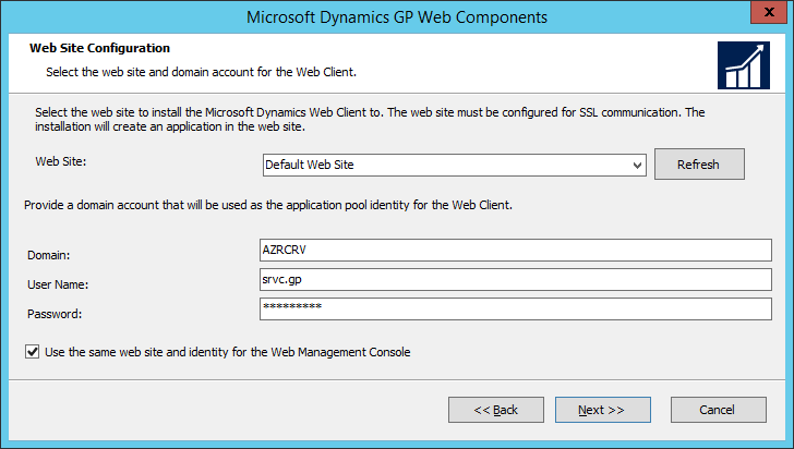 Microsoft Dynamics GP Web Components: Web Site Configuration