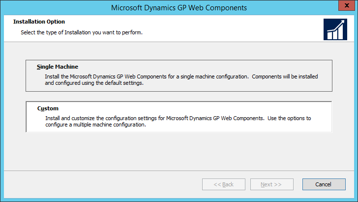 Microsoft Dynamics GP Web Components: Installation Option