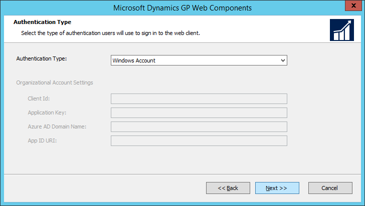 Microsoft Dynamics GP Web Components: Authentication Type