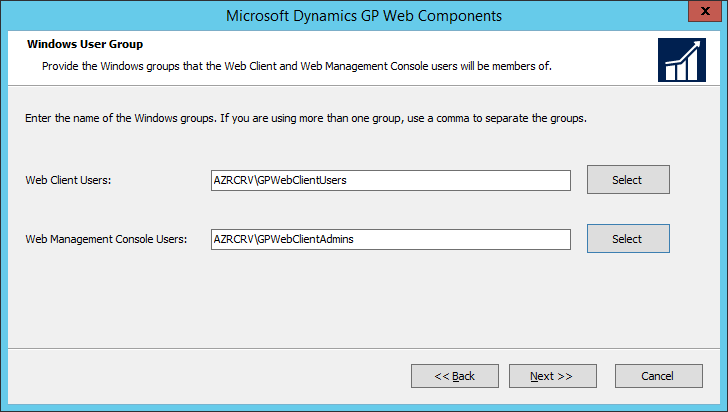 Microsoft Dynamics GP Web Components: Windows User Group