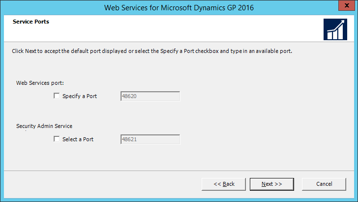 Web Services for Microsoft Dynamics GP 2016: Service Ports