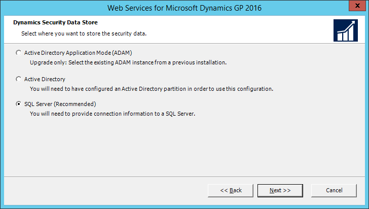 Web Services for Microsoft Dynamics GP 2016: Dynamics Security Data Store