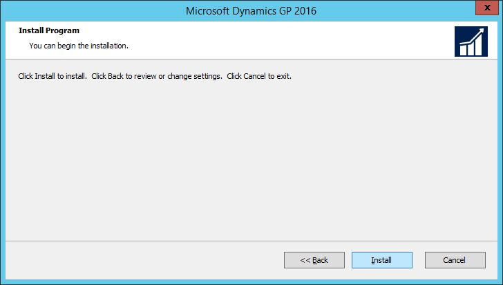 Microsoft Dynamics GP 2016: Install program