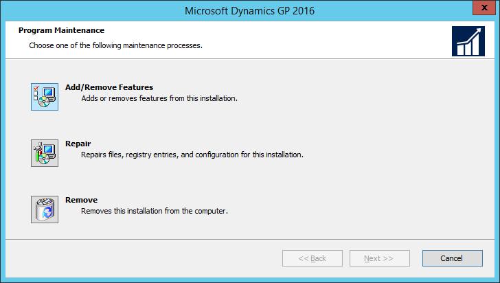 Microsoft Dynamics GP Web Components: Program Maintenance