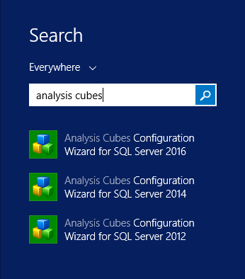 Analysis Cubes Configuration Wizards