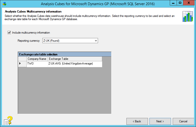 Analysis Cubes for Microsoft Dynamics GP (Microsoft SQL Server 2016): Analysis Cubes Multicurrency information