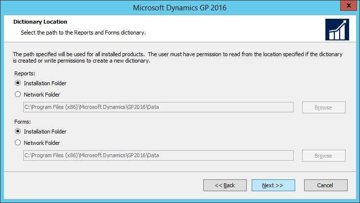 Microsoft Dynamics GP 2016: Dictionary Location
