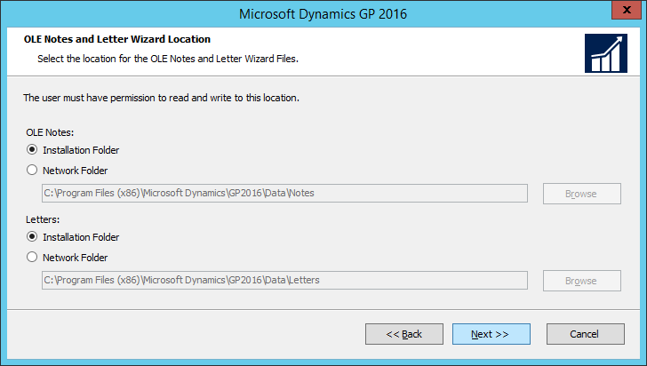 Microsoft Dynamics GP 2016: OLE Notes and Letter Wizard Location