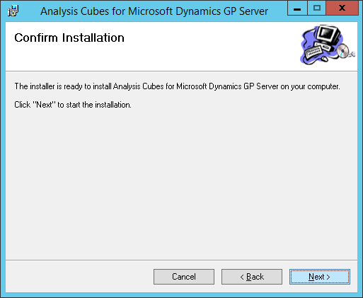 Analysis Cubes for Microsoft Dynamics GP Server: Confirm Installation