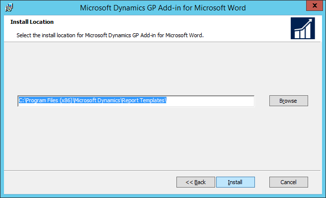 Microsoft Dynamics GP Add-in for Microsoft Word: Install Location