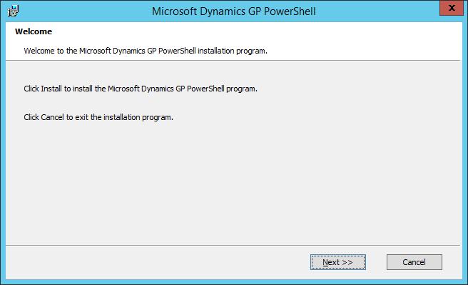 Microsoft Dynamics GP PowerShell: Welcome