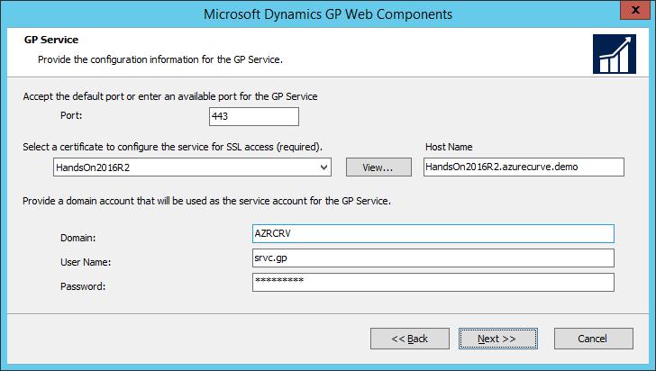 Microsoft Dynamics GP Web Components: GP Service