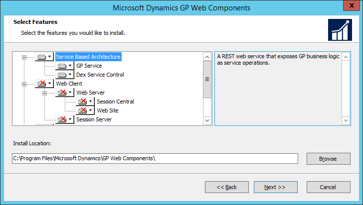 Microsoft Dynamics GP Web Components: Select Feature