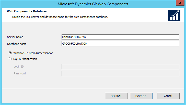 Microsoft Dynamics GP Web Components: Web Components Database