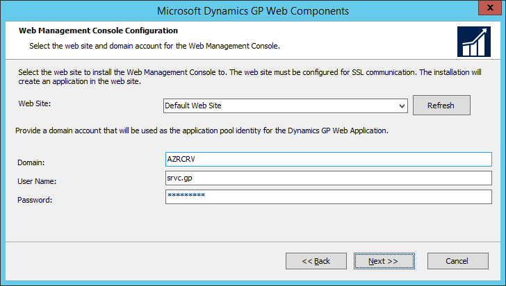 Microsoft Dynamics GP Web Components: Web Management Console Configuration