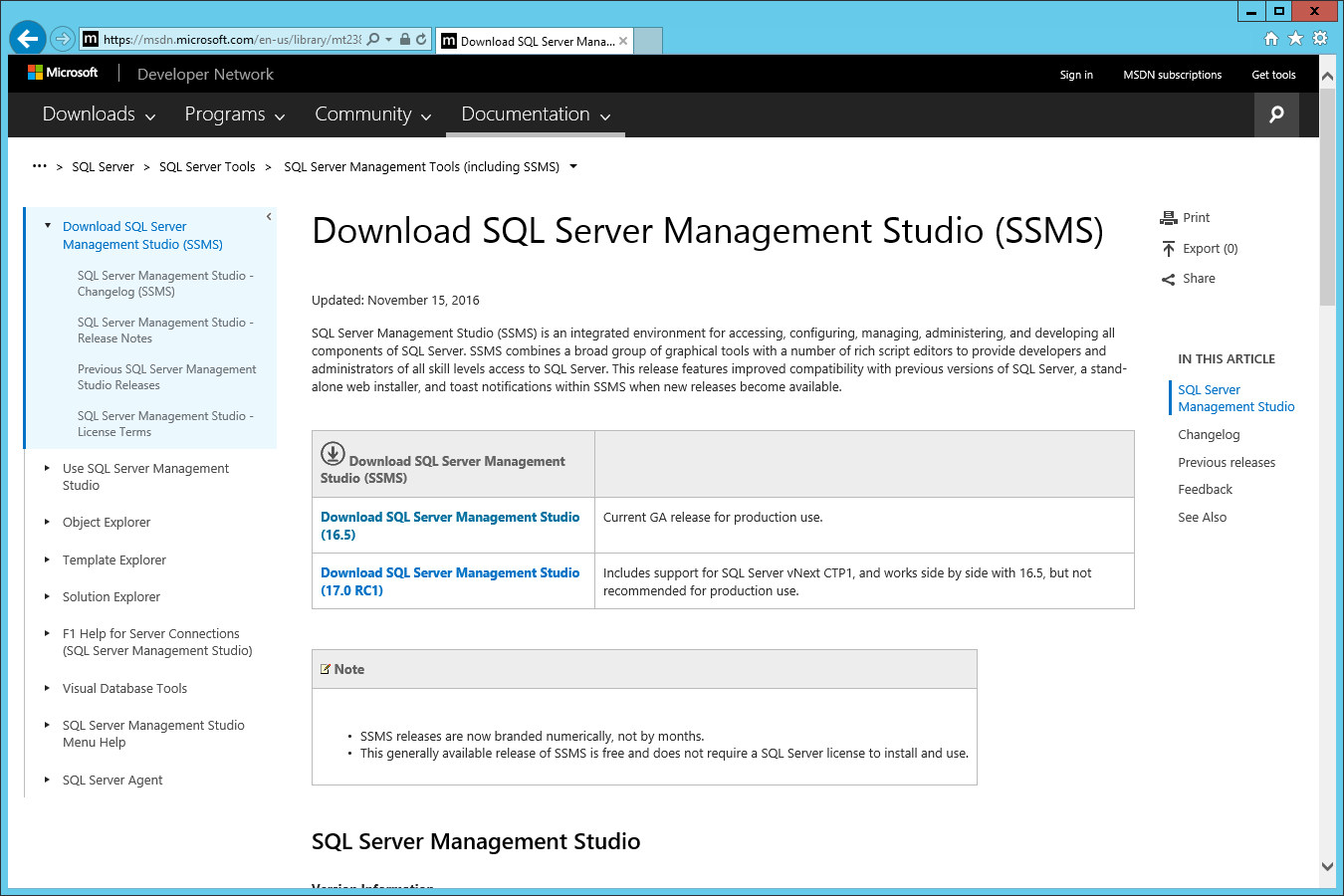 Download SQL Server Management Studio (SSMS)