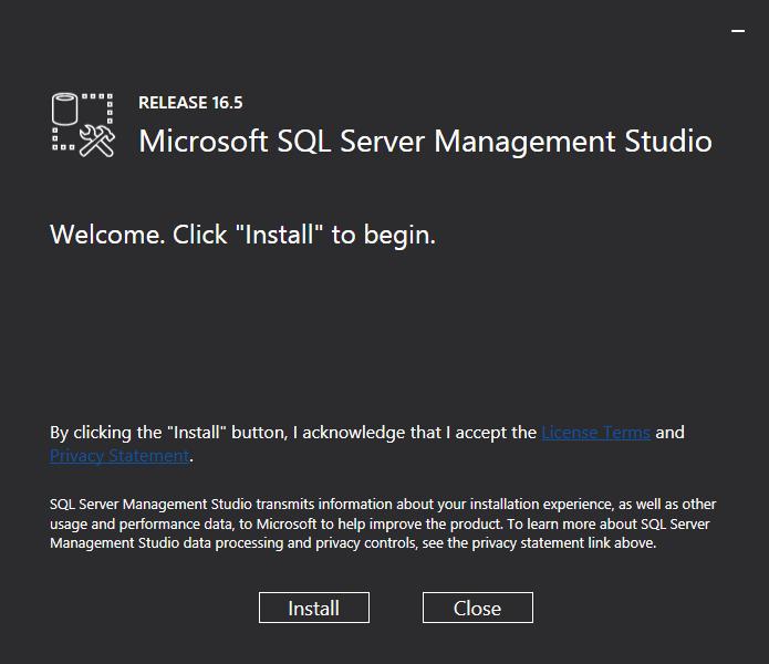 SQL Server Management Studio Installer
