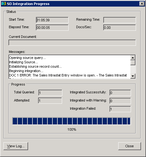 Integration Manager - Destination Mapping - Intrastat - Options