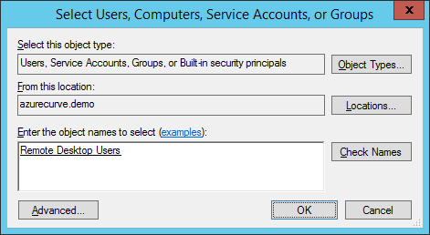 Select Users, Computers, Service Accounts, or Groups