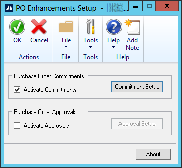 PO Enhancements Setup