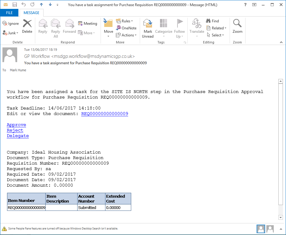 Customising dynamics gp workflow emails increasing the for Table th font size