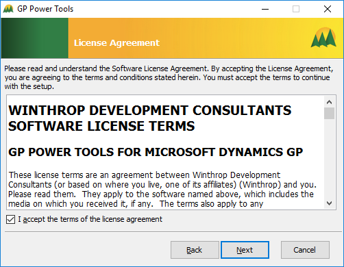 GP Power Tools: License Agreement