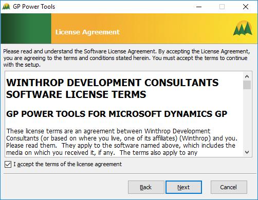 GP Power Tools: License Agreement