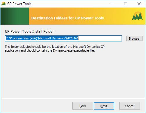 GP Power Tools: Destination Folders for GP Power Tools