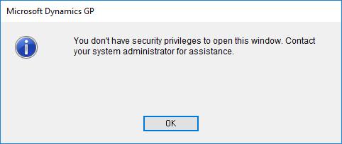 Microsoft Dynamics GP - You don
