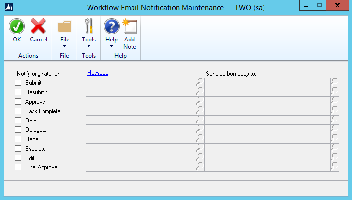 Workflow Email Notification Maintenance