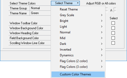 Administrator Settings - Colour tab